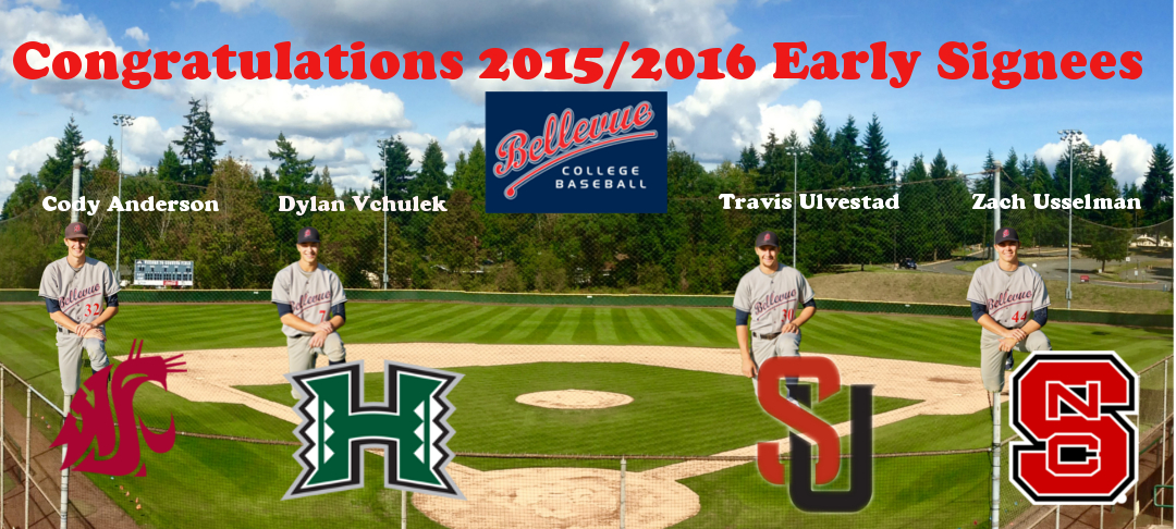 Congratulations 2015-2016 early signees. Four players - Cody Anderson, Dylan Vchulek, Travis Ulvestad, Zach Usselman