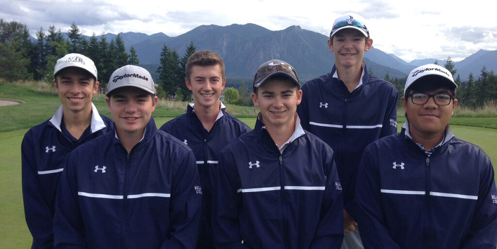 Image of Bellevue College men's golf team, Fall 2015