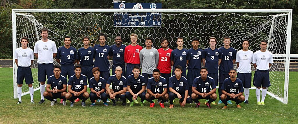 2016 Bellevue College men's soccer team photo