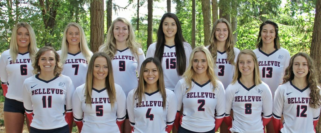 Team photo 2017 BC volleyball - Players identified in caption