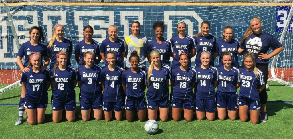 Image of 2015 Bellevue College women's soccer team