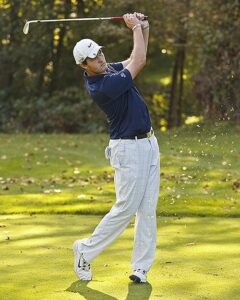 Sophomore Jack Strickland finished second by firing rounds of 73-71 at Wine Valley GC. photo by Rich Dworkis