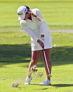 Lindsey Gullikson was named first team All-NWAC golf. photo by Rich Dworkis.