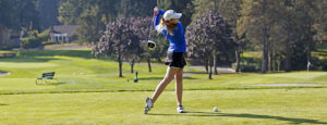 Kendra Meeker led the BC women's golf team at the Saint Martin's Invite. photo by Rich Dworkis.