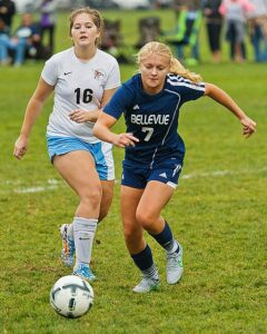 Anna Roslander led Bellevue to their best season in years. photo by Rich Dworkis.