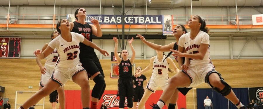 BC women's basketball players get position for rebound
