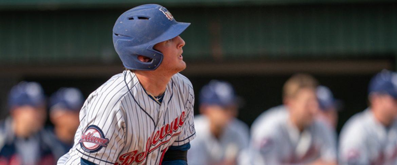 Bellevue College baseball player