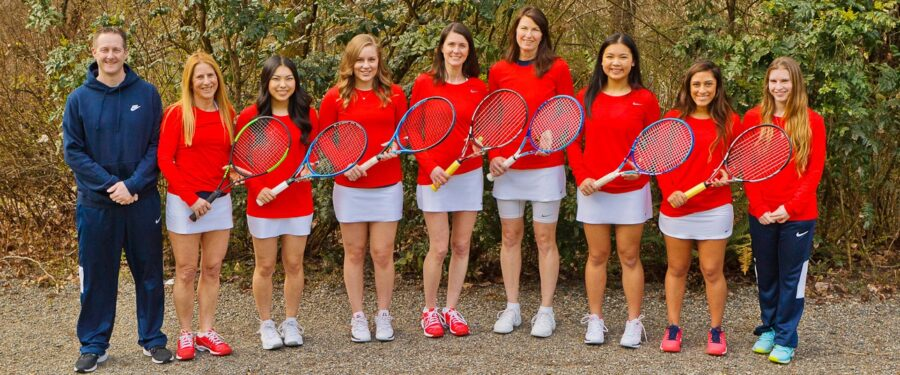 Team photo of 2017 Bellevue College women's tennis