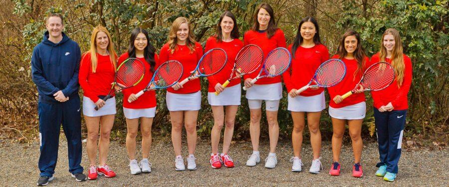 Team photo of 2017 Bellevue College women's tennis
