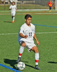 Photos of BC men's soccer players. Names for each photo match the caption.