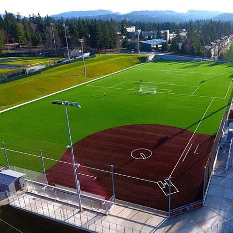 BC soccer and softball fields with artificial turf