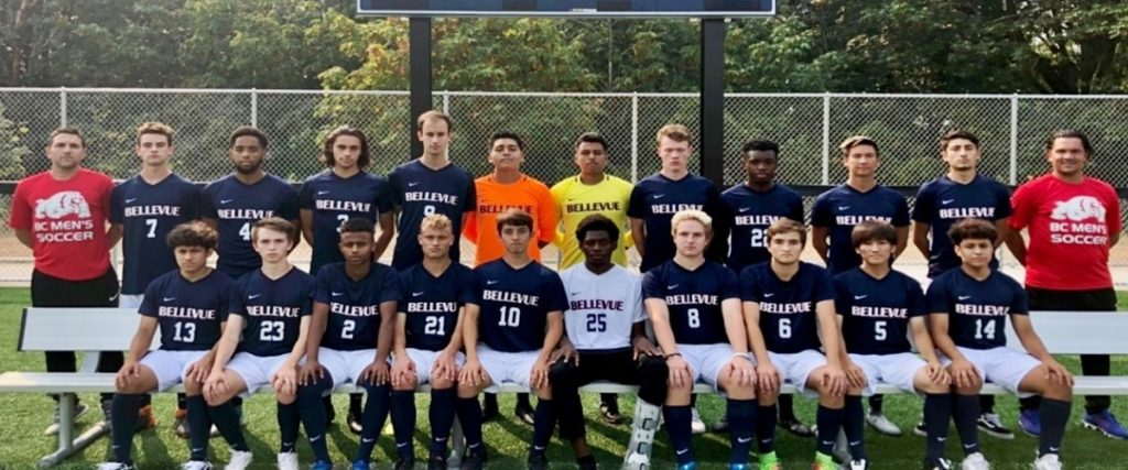 2018 BC Men's soccer team. Names contained in caption