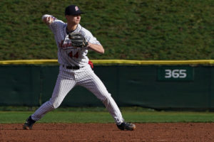 Riley Parker blasted two home runs and went 3-for-4 in his college debut