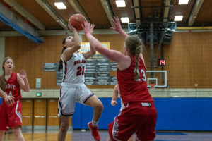Ashley Anderson led Bellevue with 13 points, 11 rebounds, and seven assists