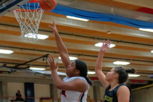 Amanda Luckett goes up for a shot