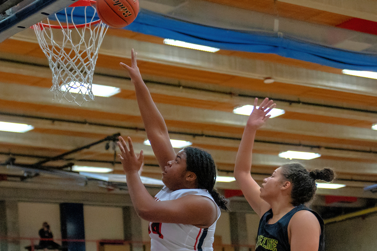 Amanda Luckett led Bellevue with 27 points. photo by Rick May.