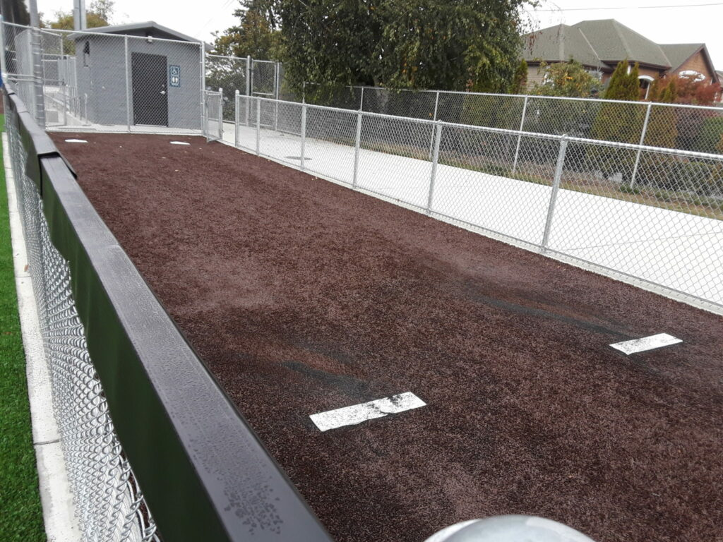 Warm-up area and turf