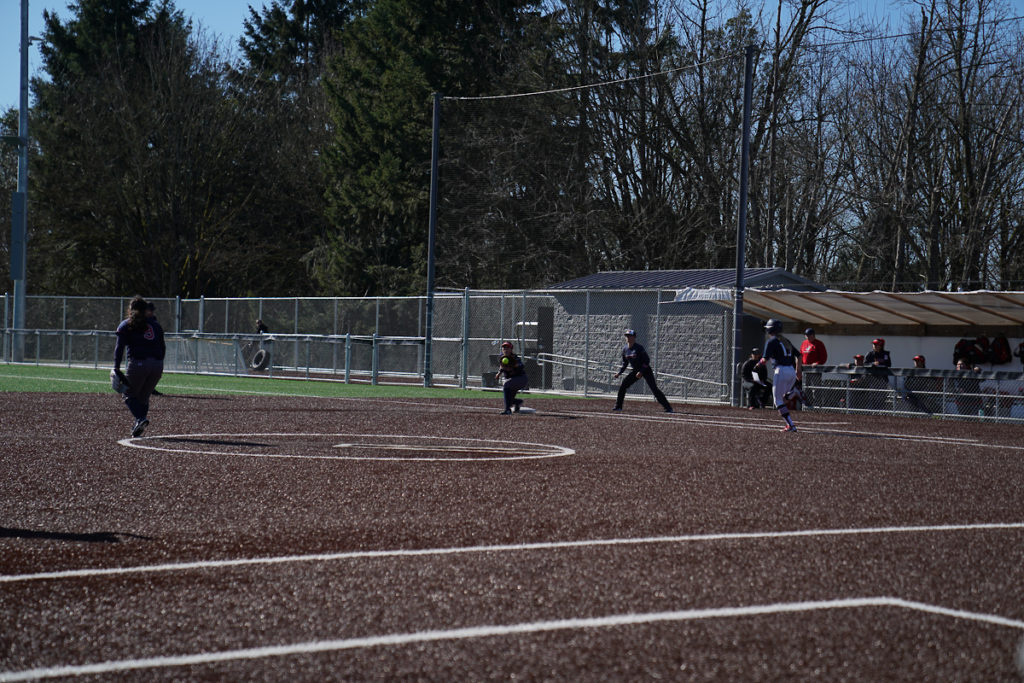 Players using the field