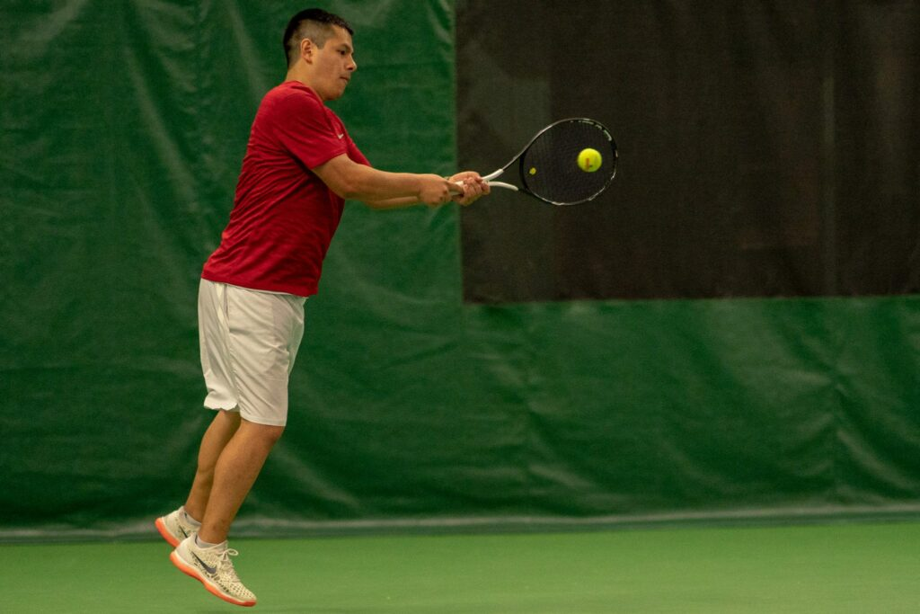 men's tennis action 2019