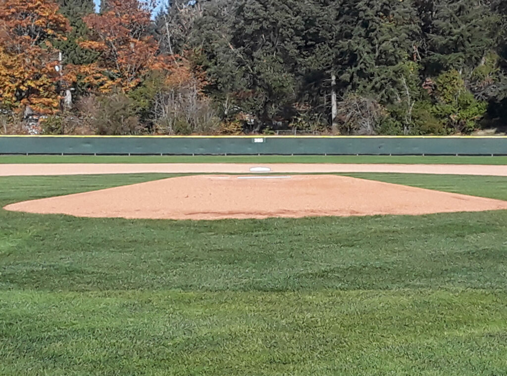 Courter Field pitching mound