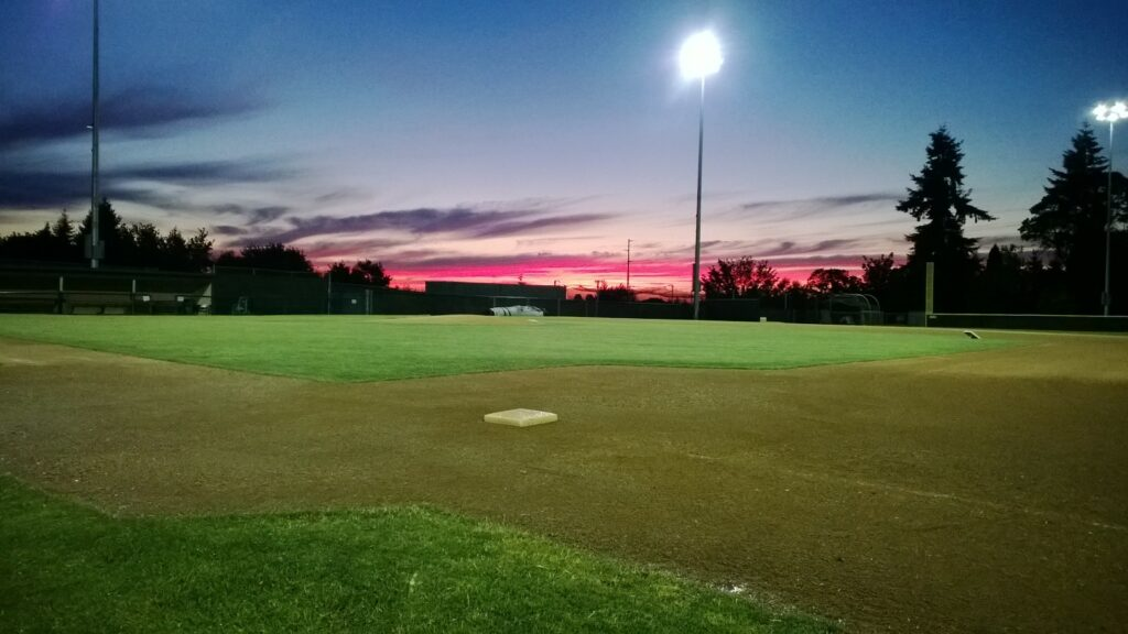 Courter Field at dusk