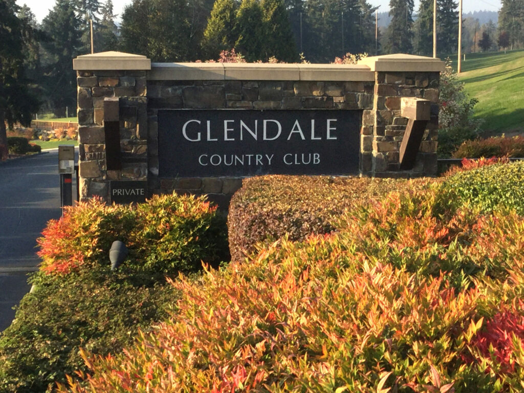 Glendale Country Club main entrance