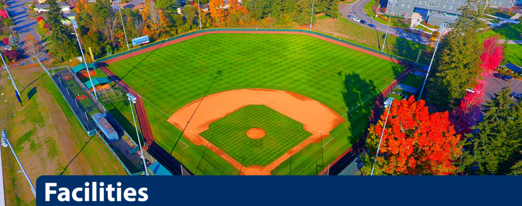 Facilities banner image with Courter Field