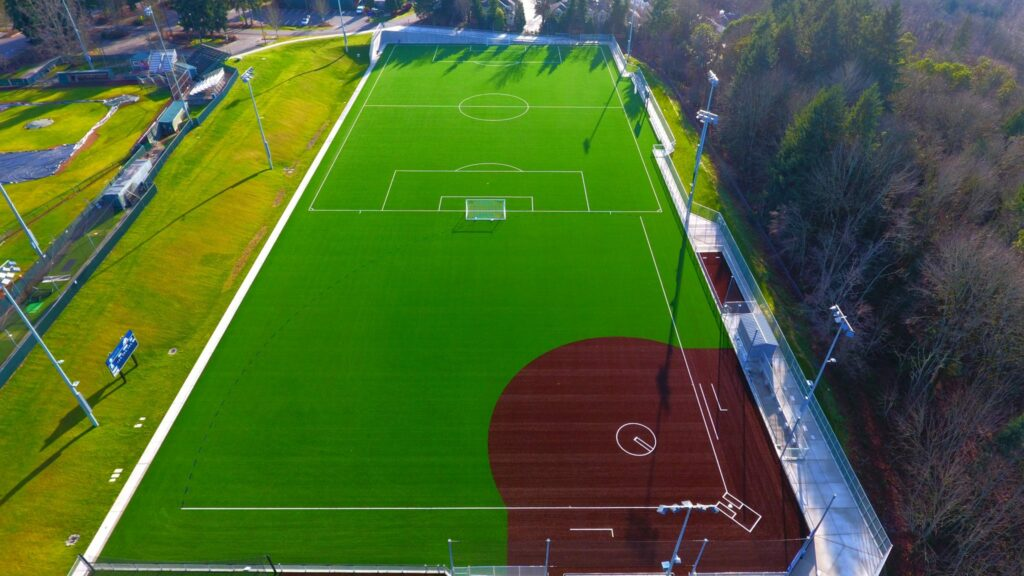 Soccer and Softball Fields, overhead view