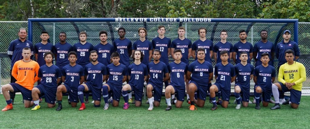 2019 BC Men's soccer team. Names contained in caption