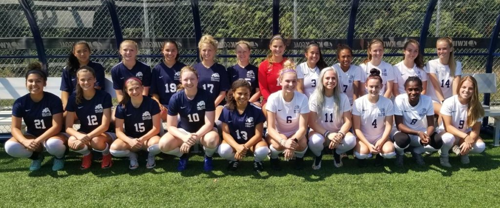 2019 Bellevue College women's soccer team. Names in caption