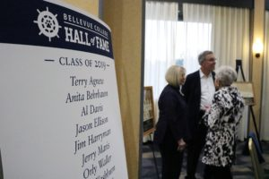 Sign listing Hall of Fame inductees