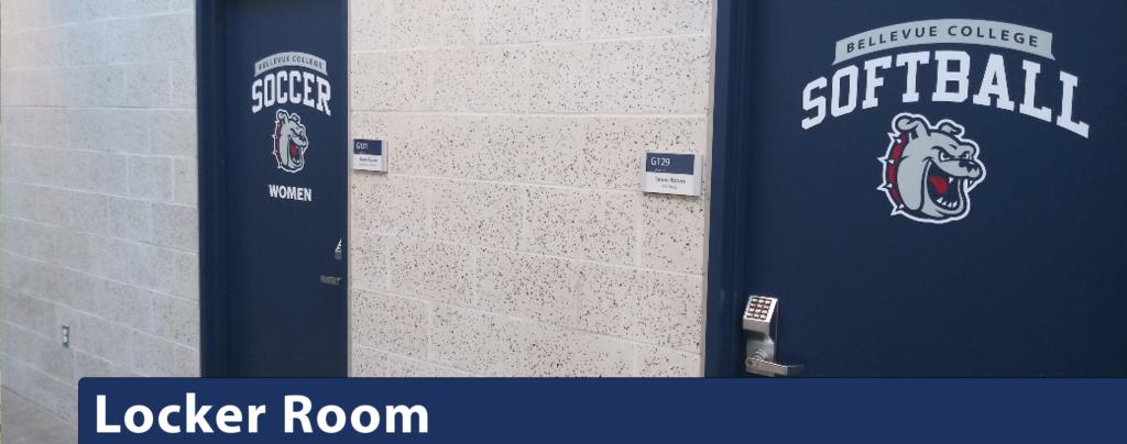 Locker Room with Coded Doors