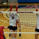 Volleyball Sweeps Olympic On Road