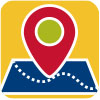 Map with locator icon