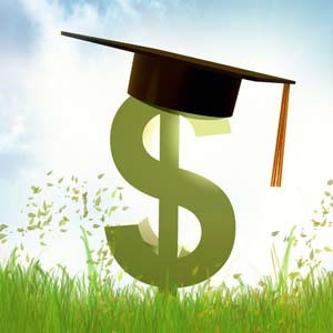 image of dollar sign with graduation cap
