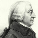 A profile portrait of Adam smith