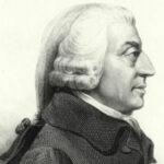 A profile portrait of Adam smith