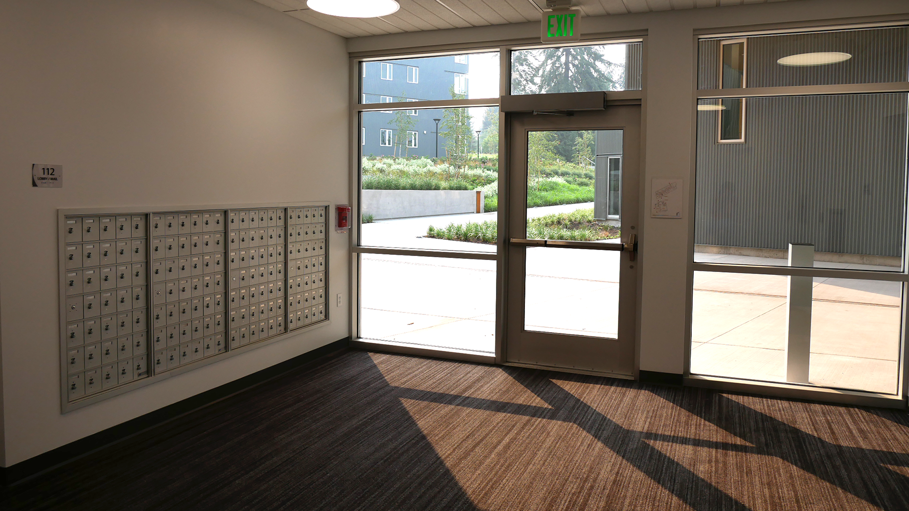 Secure mailboxes on ground floor.