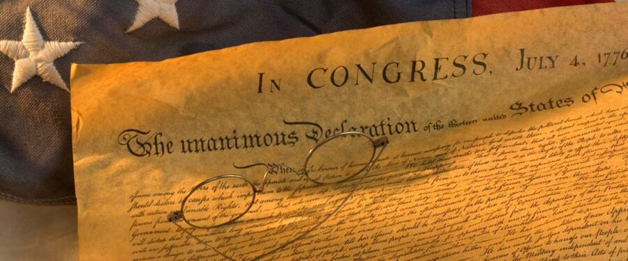 this is a picture of the declaration of independence