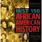 poster for History 150 African American History class
