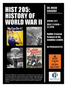 poster for History 205 class