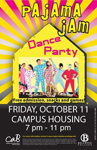 Dance party, Friday, October 11, Campus Housing
