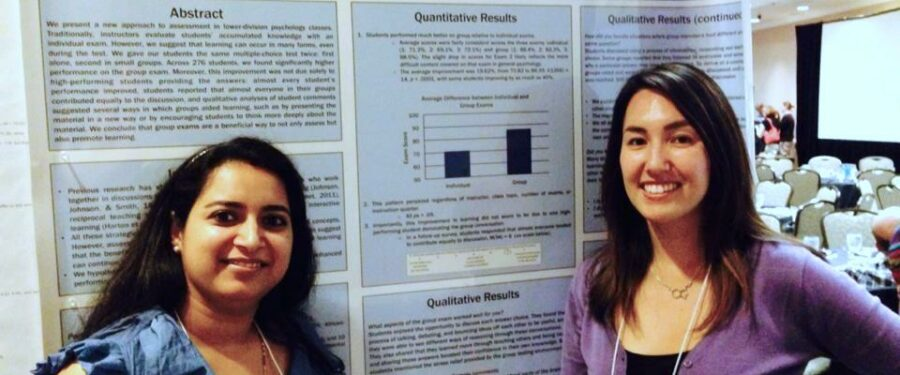 Tabitha Turowski and Deepti Karkhanis with their research poster