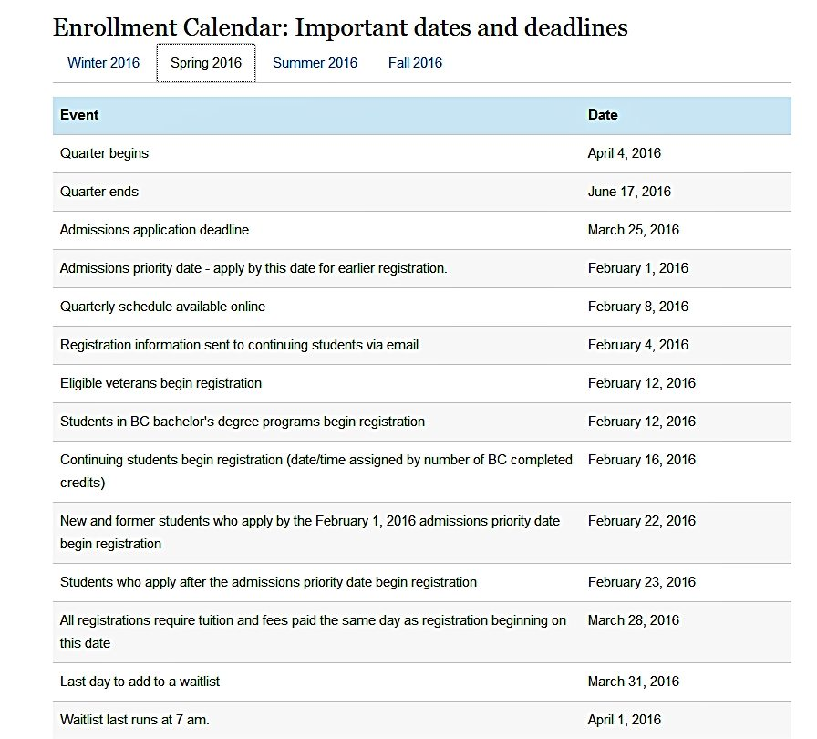 Knox College Academic Calendar.Events Calendar Bellevue College
