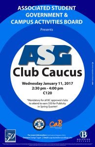 ASG Club Caucus poster