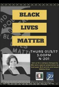 Black Lives Matter Event Poster