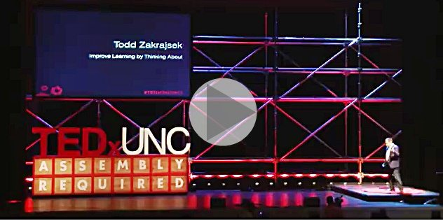 Improve learning by thinking about learning. Todd Zakrajsek, TEDxUNC - Links to Video