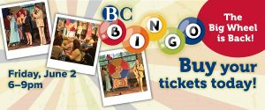 BC Bingo, Friday, June 2 - links to event information page
