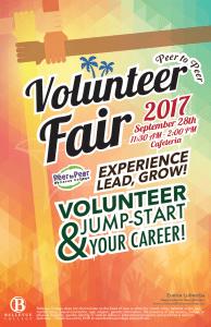 Volunteer Fair poster