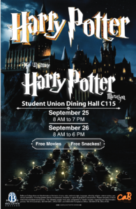 Harry Potter Marathon Poster Sept 25 & 26